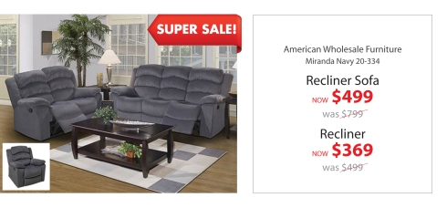 AWF recliner Sofa + Recliner