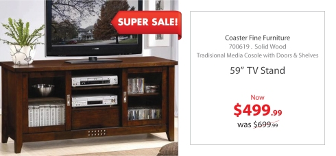 "Coaster 59"" Tv Stand"