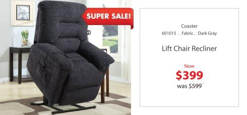 coaster lift chair recliner