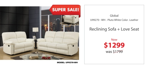 Global Loveseat + sofa