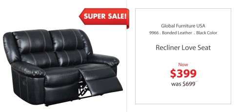 Global Recliner loveseat