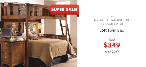 Lea loft twin bed