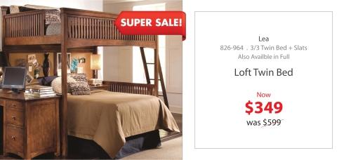 Lea loft twin bed