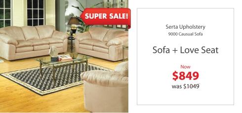 Serta 9000 sofa + love Seat