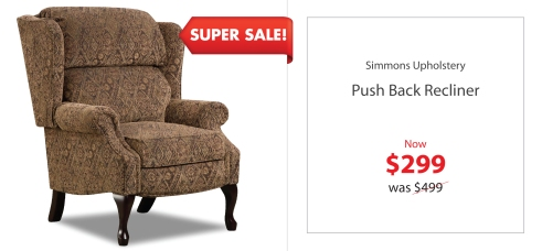 Simmons Push back Recliner