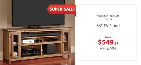 """Vaughan Bassett 66"""" Tv Stand"""