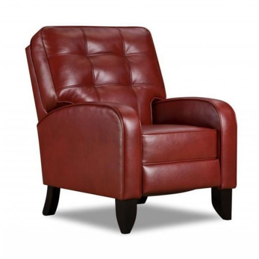 Jamestown-Hi-Leg-Recliner- red leather