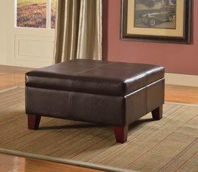 Leather Storage Ottoman